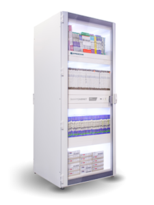 Healthcare Inventory Management - RFID Spacecode Cabinet for stents, catheters, pacemakers and medical devices