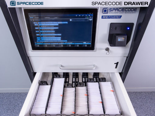 Spacecode Drawer for RFID Diamond Inventory Management with 'pick to light'